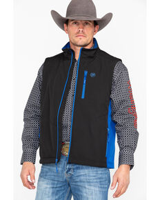 Wrangler Men's Trail Vest, Black, hi-res
