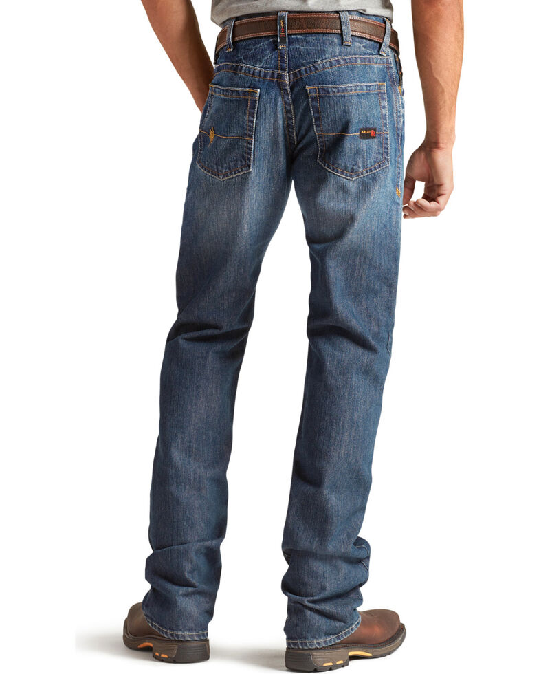 Ariat Men's M4 Flame Resistant Alloy Bootcut Jeans, Indigo, hi-res