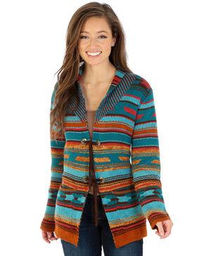 Wrangler Women's Pattern Concho Cardigan, Multi, hi-res