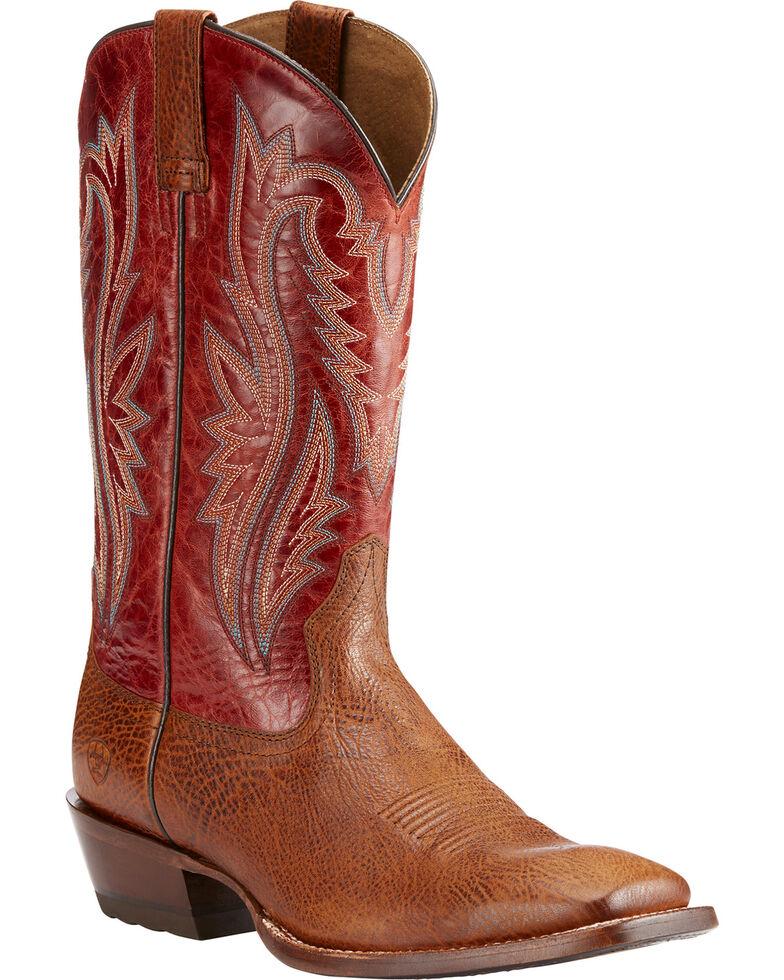 Ariat Men's Fireside Texaco Leather Boots - Square Toe , Tan, hi-res