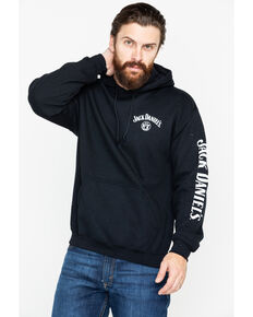 Jack Daniel's Men's No. 7 Label Graphic Hooded Sweatshirt , Black, hi-res