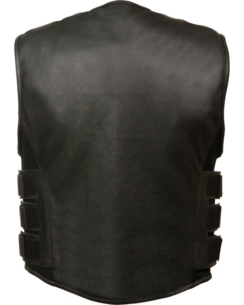 Milwaukee Leather Men's SWAT Style Zipper Front Vest - 3X, Black, hi-res