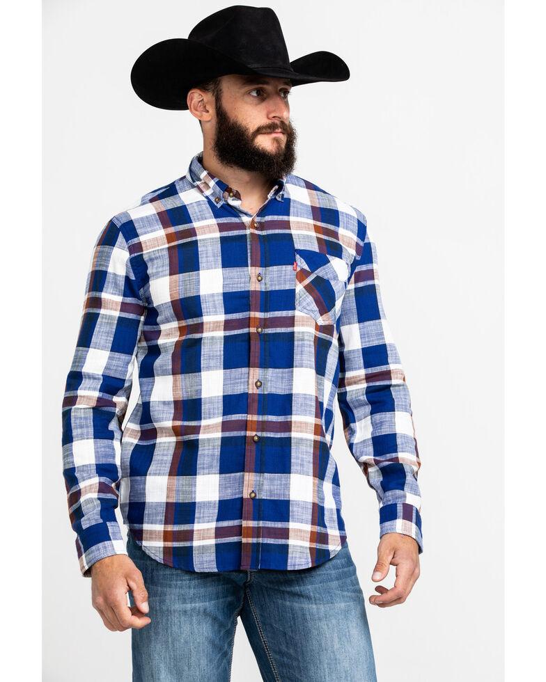 Levi's Men's Bellore Madras Plaid Long Sleeve Western Flannel Shirt , White, hi-res