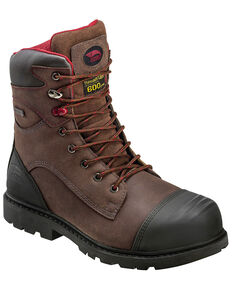 "Avenger Men's 8"" Carbon Toe Puncture Resistant Work Boots, Brown, hi-res"