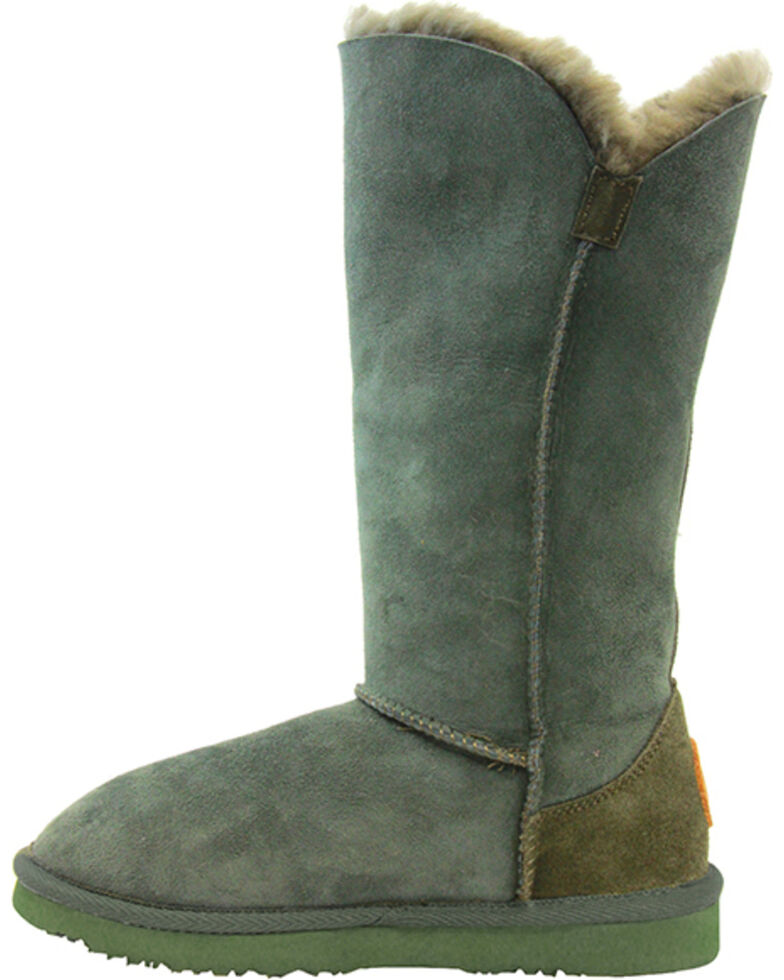 "Lamo Footwear Women's Liberty 12"" Boots , Dark Green, hi-res"