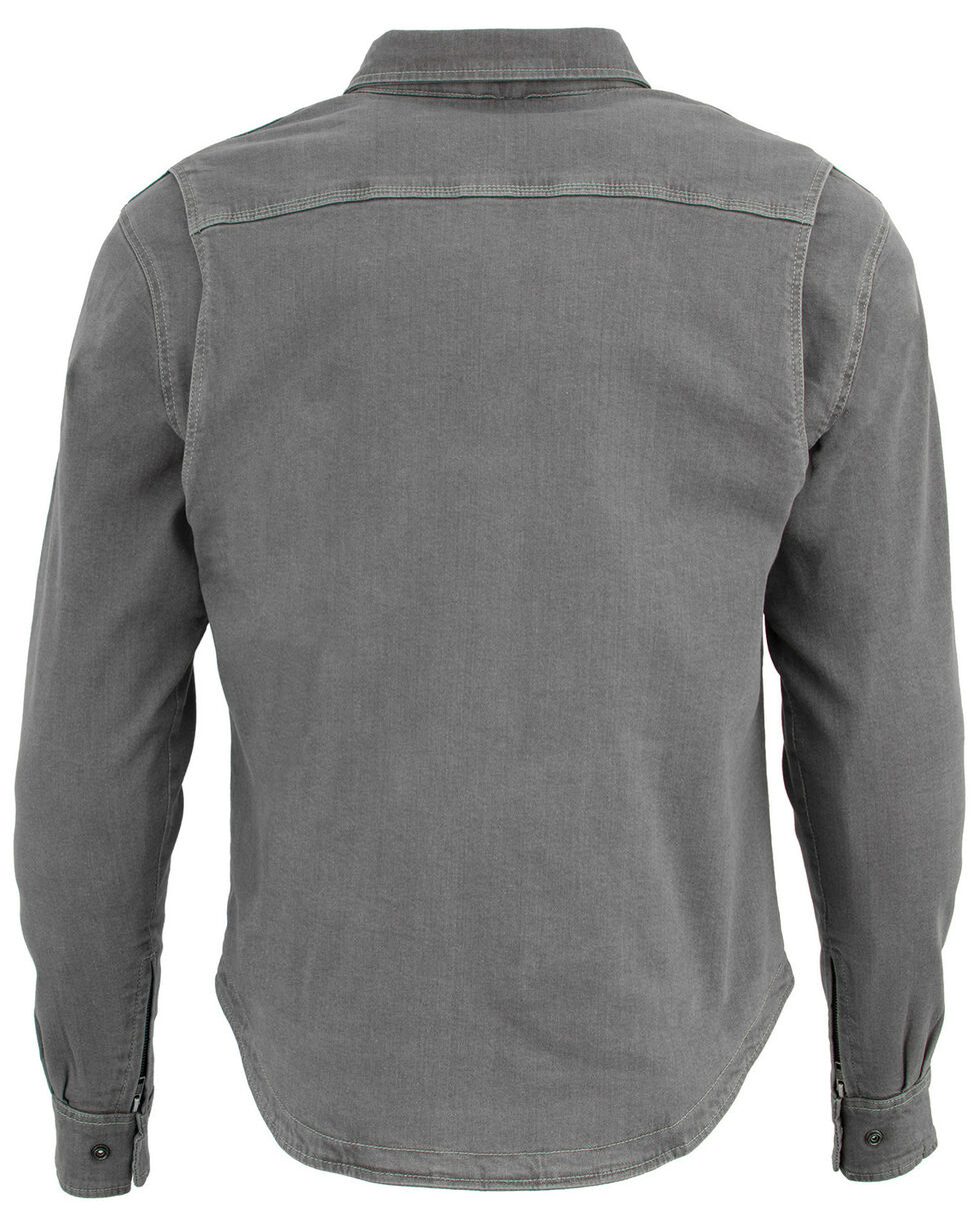 Milwaukee Performance Men's Aramid Reinforced Grey Denim Biker Shirt, Grey, hi-res