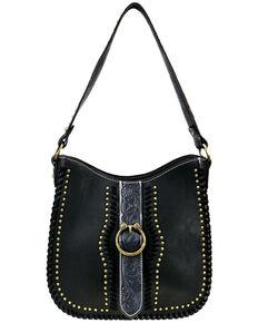 Montana West Women's Tooled Concealed Hobo Bag, Black, hi-res