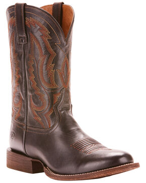 Ariat Men's Circuit Competitor Limousine Black Performance Cowboy Boots - Round Toe, Black, hi-res