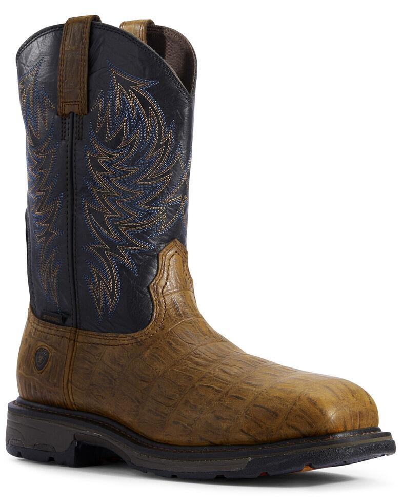 Ariat Men's Workhog Western Work Boots - Composite Toe, Brown, hi-res
