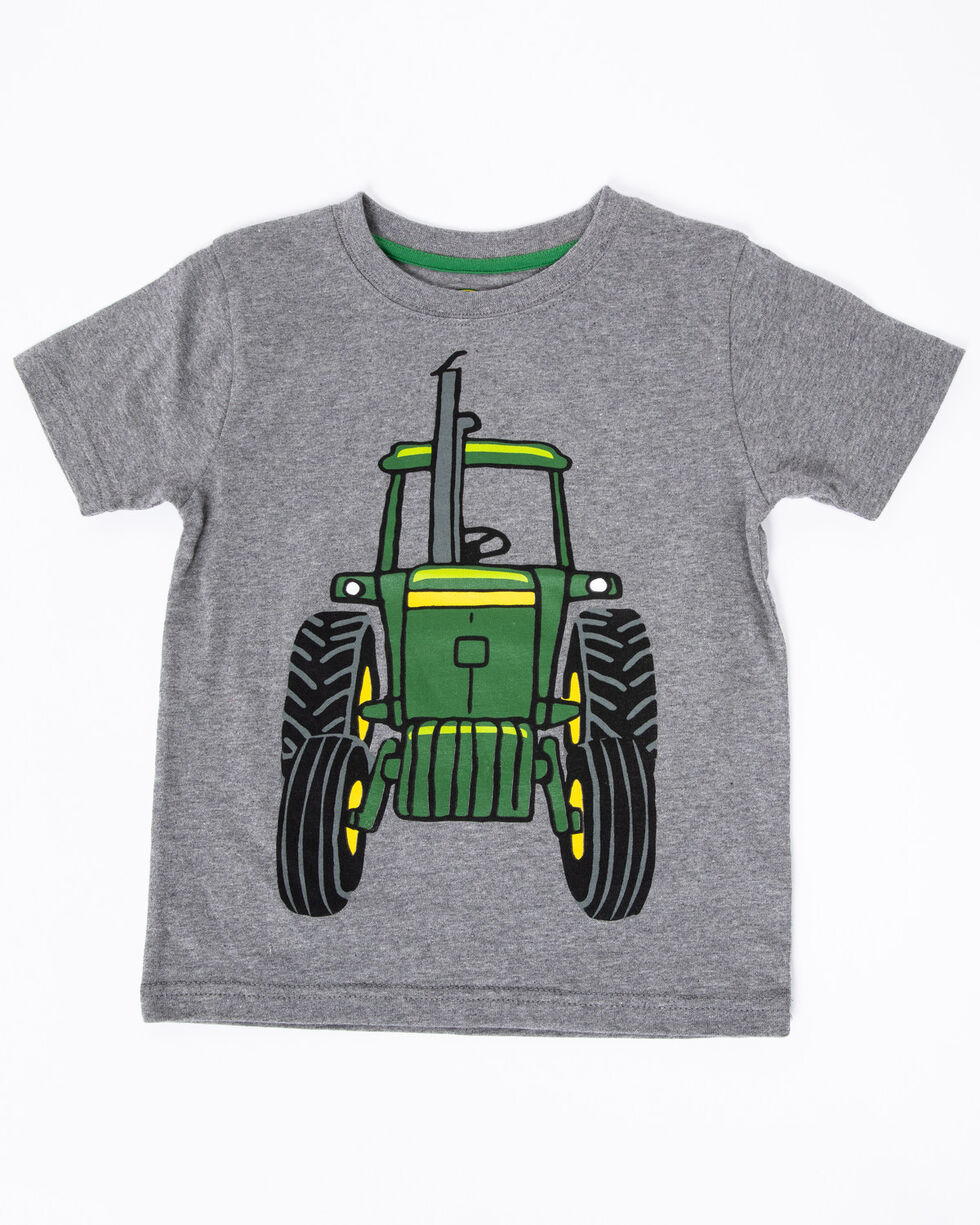 John Deere Boys' Coming And Going Graphic T-Shirt , Grey, hi-res
