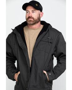 Wolverine Men's Worksite Stretch Canvas Hooded Work Jacket , Black, hi-res