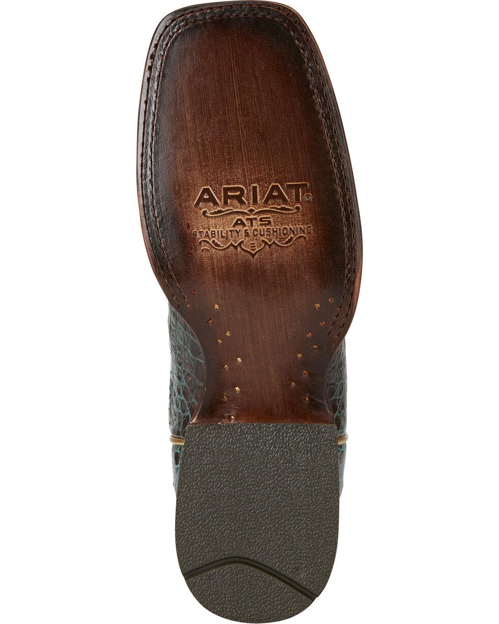 Ariat Women's Silverado Caiman Exotic Boots, Dark Brown, hi-res