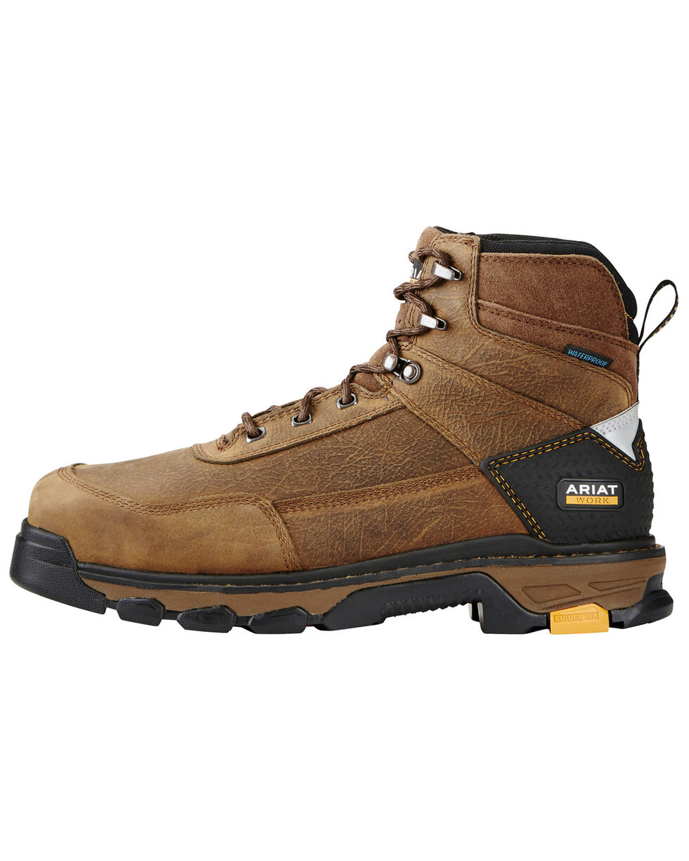"""Ariat Men's Intrepid 8"""" Waterproof Comp Toe Work Boots, Brown, hi-res"""