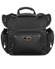 Milwaukee Leather Double Barrel Sissy Bar Bag, Black, hi-res