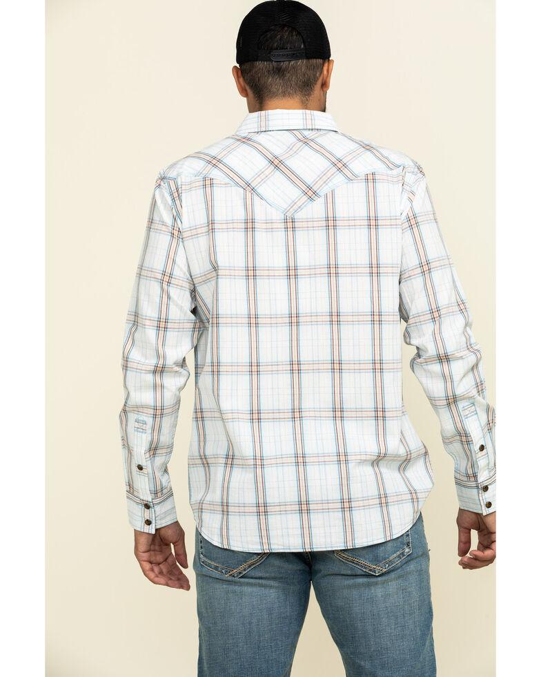 Moonshine Spirit Men's Bloomfield Large Plaid Long Sleeve Western Shirt , Light Blue, hi-res