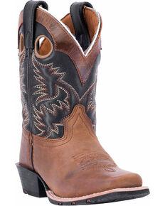 Dan Post Youth Boys' Rascal Western Boots - Square Toe, Brown, hi-res