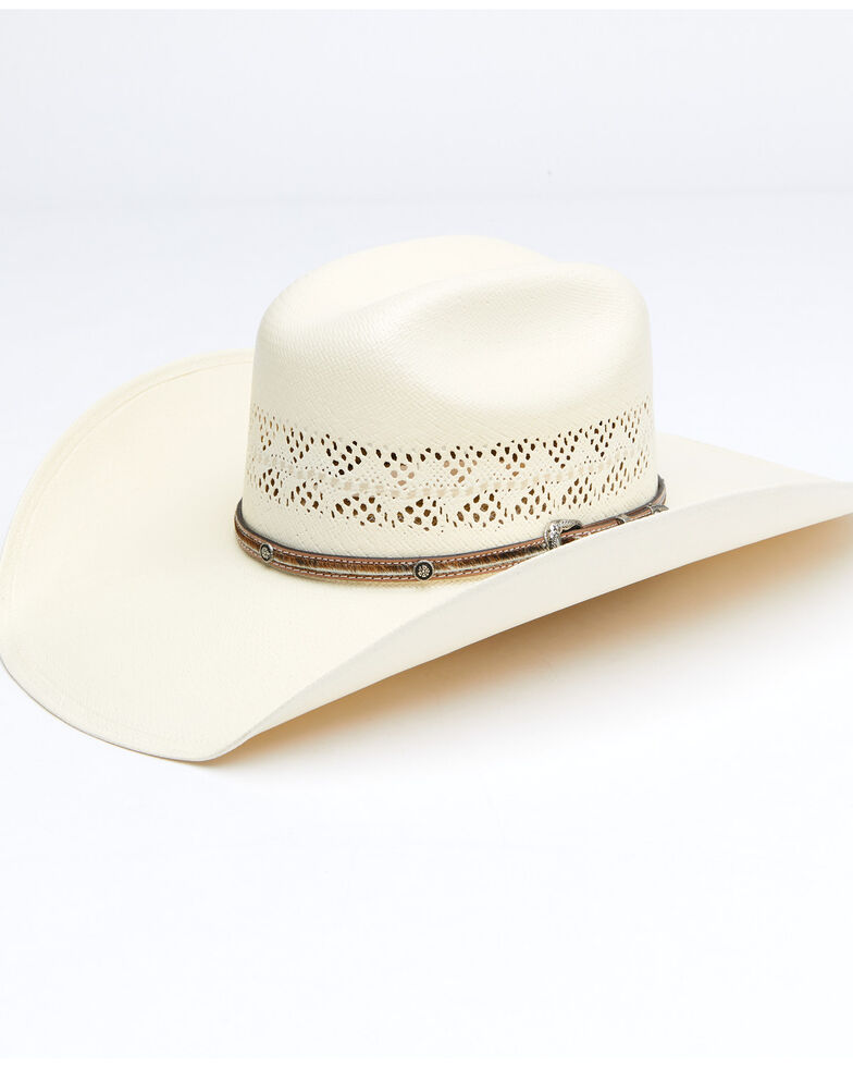 Larry Mahan Men's 10X Natural Palomino Western Straw Hat , Natural, hi-res
