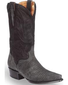 35d25faeb8658 El Dorado Men s Handmade Lizard Black Cowboy Boots - Snip Toe
