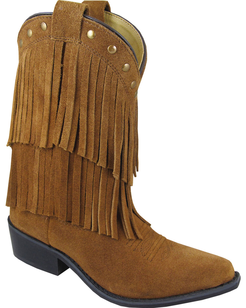 Smoky Mountain Girls' Wisteria Western Boots - Medium Toe, Brown, hi-res