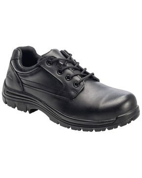 Avenger Men's Slip Resistant Oxford Work Shoes - Composite Toe, Black, hi-res