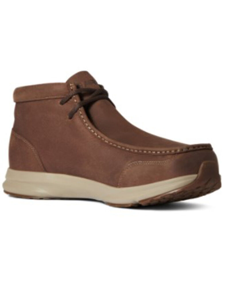 Ariat Men's Reliable Brown Spitfire H20 Lace Up Shoe - Moc Toe , Brown, hi-res