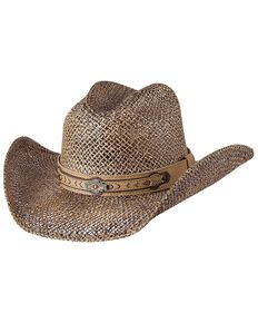 Bullhide Women's Cut Above Straw Hat, Bronze, hi-res