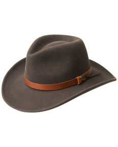 Bailey Men's Caliber Wool Felt Outback Hat, Grey, hi-res