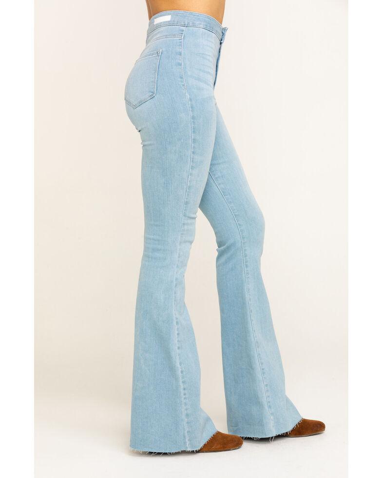 Cello Women's Light Wash Super Flare Jeans, Blue, hi-res