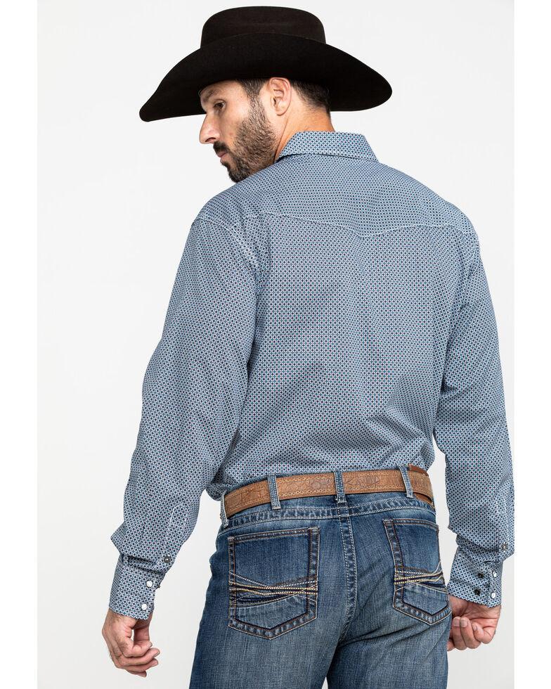 Cinch Men's Navy Modern Geo Print Long Sleeve Western Shirt , Navy, hi-res