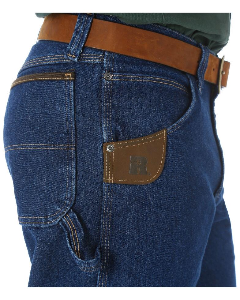 6748c277 Zoomed Image Wrangler Jeans Men's Riggs Workwear Relaxed Carpenter Work  Jeans- Big , Blue, hi-