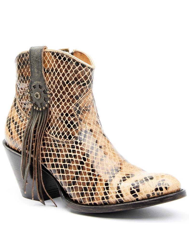 Shyanne Women's Carol Fashion Booties - Round Toe, Tan, hi-res