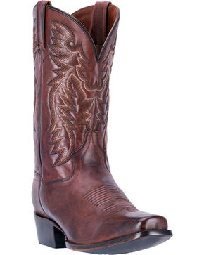 Dan Post Men's Centennial Chocolate Western Boots - Square Toe, Chocolate, hi-res