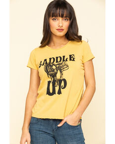 Bandit Women's Saddle Up Graphic Tee, Dark Yellow, hi-res