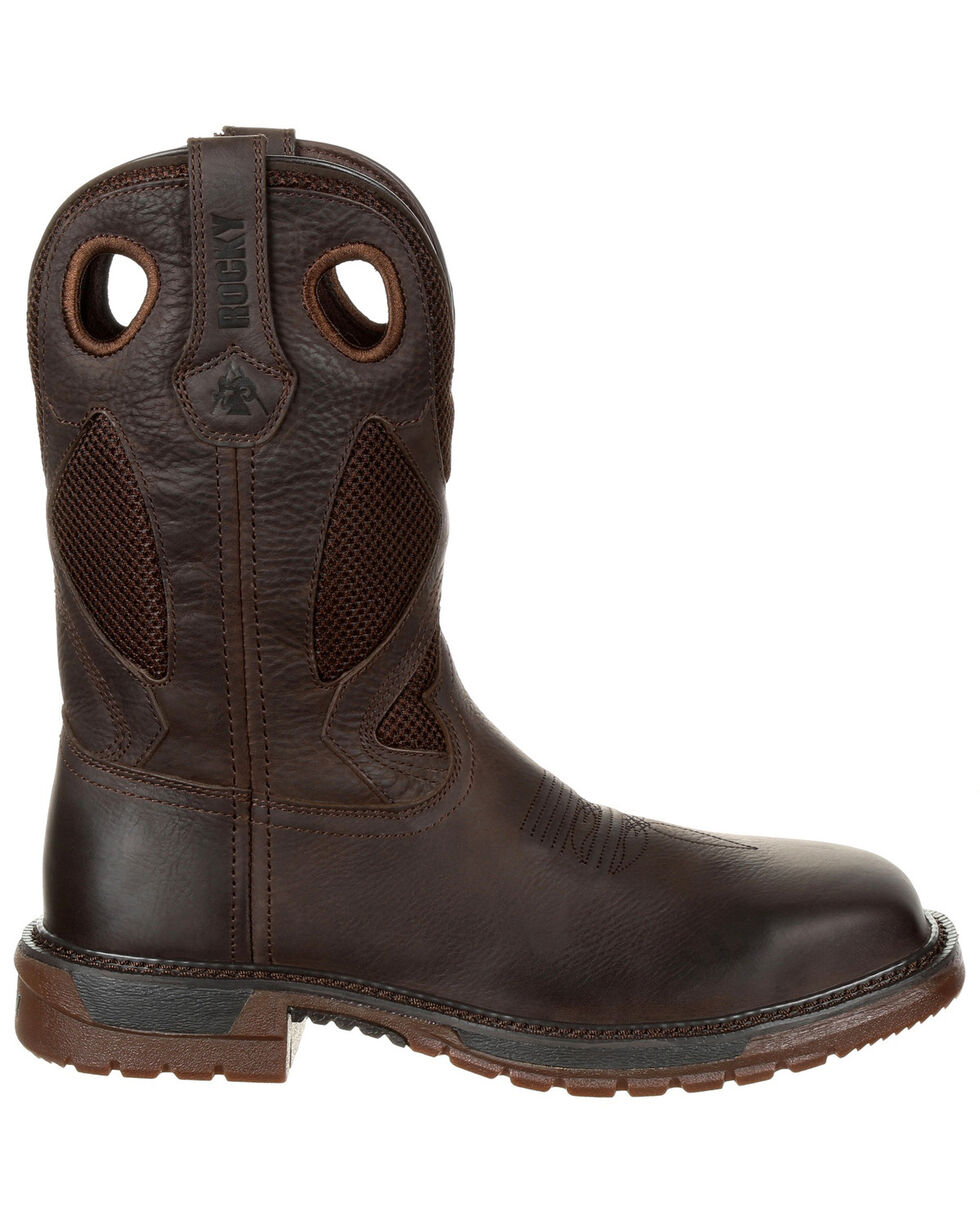 Rocky Men's Original Ride FLX Western Boots - Safety Toe, Pecan, hi-res