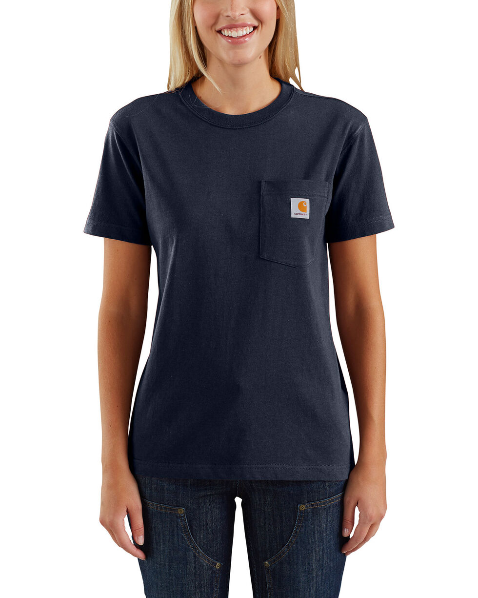 Carhartt Women's Workwear Pocket T-Shirt, Navy, hi-res