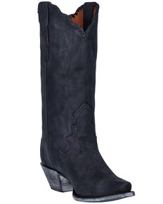 Dan Post Women's Denise Western Boots - Snip Toe, Black, hi-res