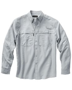 Dri Duck Men's Catch Long Sleeve Woven Work Shirt - Big & Tall , Grey, hi-res