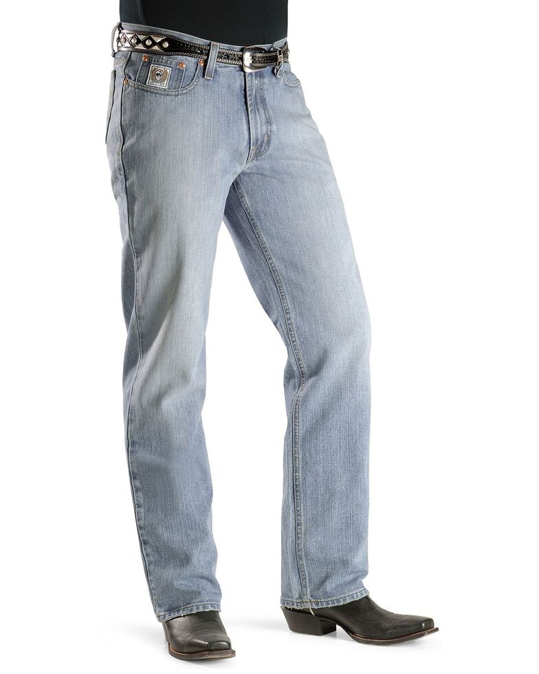 Cinch Men's White Label Relaxed Fit Stonewash Jeans, Midstone, hi-res