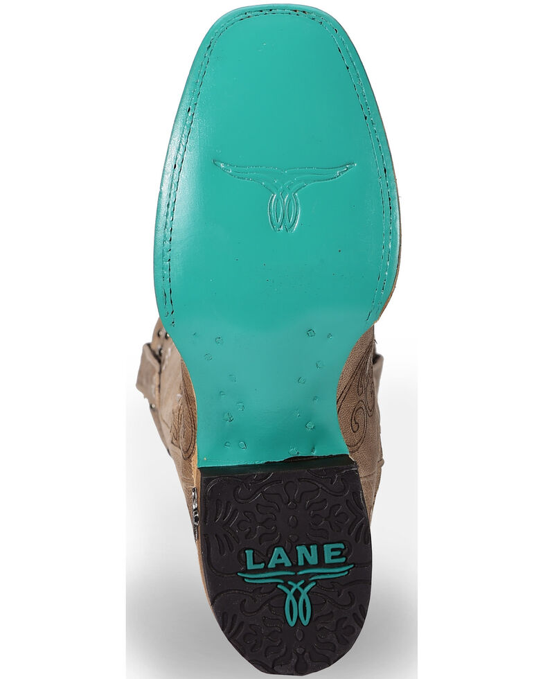 Lane Women's Sweet Paisley Cowgirl Boots - Square Toe , Red, hi-res