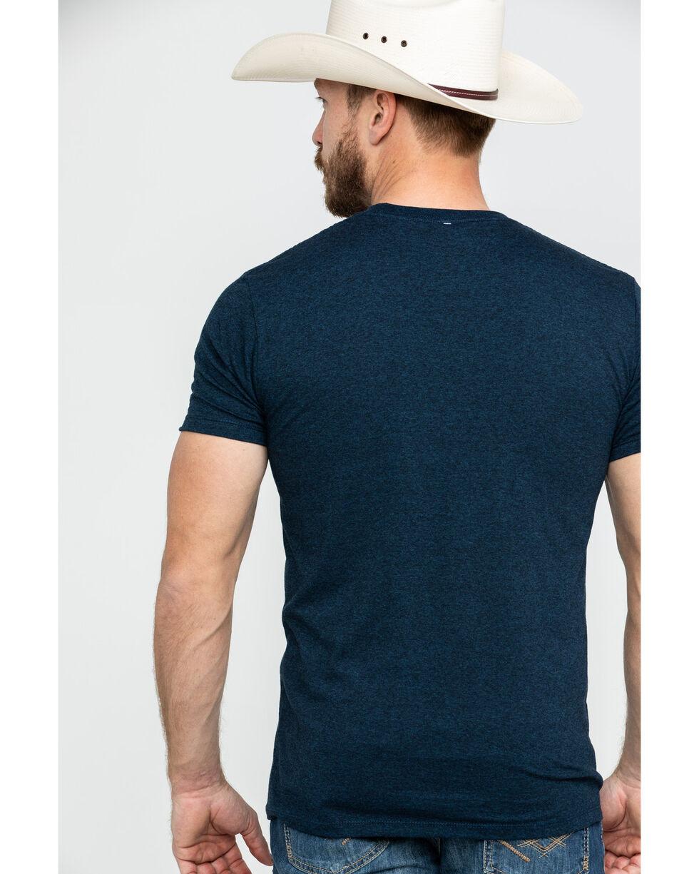 Cinch Men's Bar Logo Graphic T-Shirt , Heather Blue, hi-res