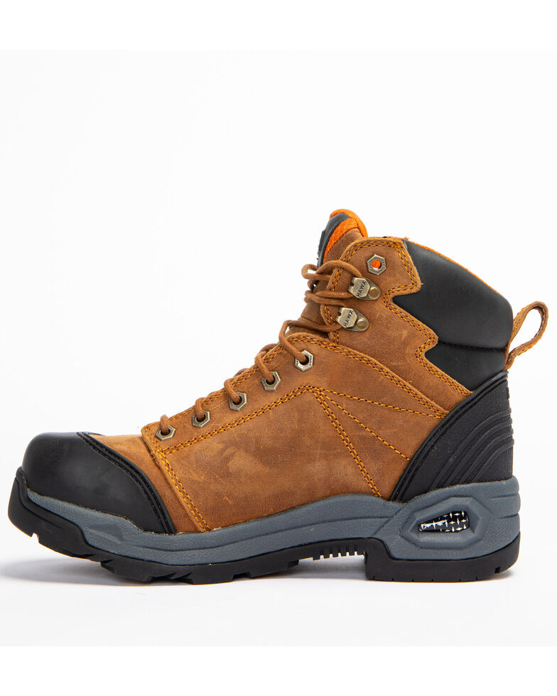 Hawx Men's Lace To Toe Hiker Boots - Round Toe, Brown, hi-res