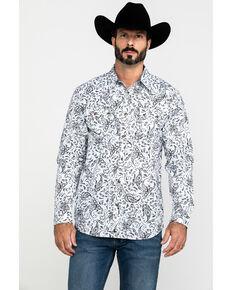 Cody James Men's Decoy Paisley Print Long Sleeve Western Shirt , White, hi-res