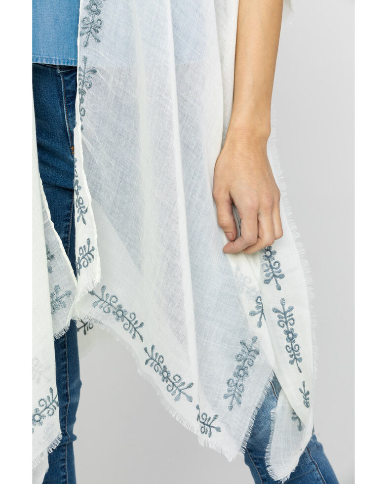 Shyanne Women's Fading Love Ivory Shawl, Ivory, hi-res