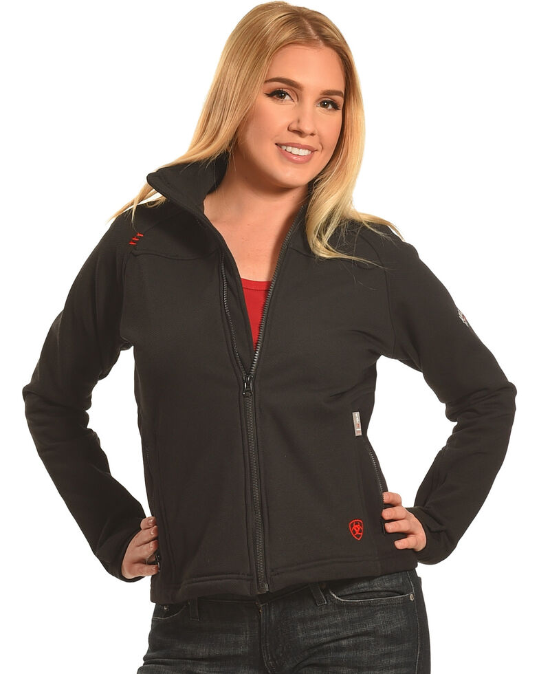 Ariat Women's Black Flame Resistant Platform Jacket, Black, hi-res