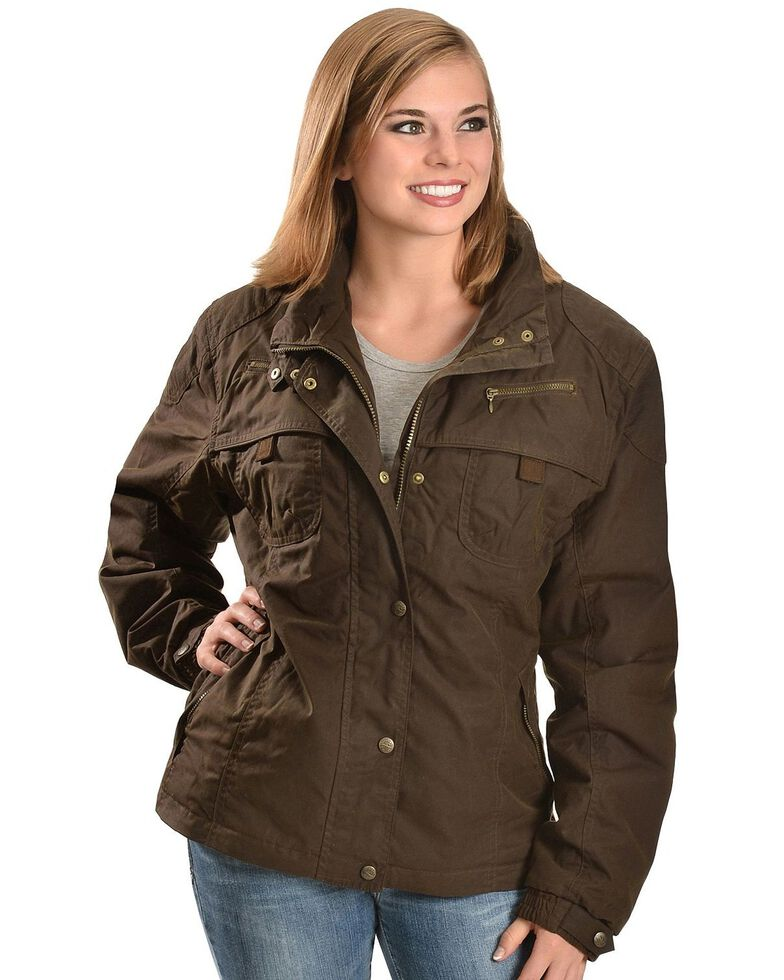 Outback Trading Women's Oilskin Sheila's Delight Jacket, Bronze, hi-res