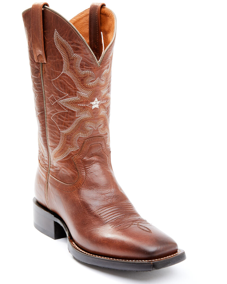 Idyllwind Women's Canyon Cross Performance Western Boots - Wide Square Toe, Cognac, hi-res