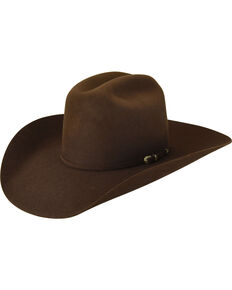 Bailey Men's Brown Pro 5X Wool Felt Cowboy Hat , Brown, hi-res