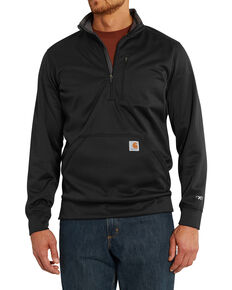 Carhartt Men's Force Extremes Mock-Neck Half-Zip Pullover - Big, Black, hi-res