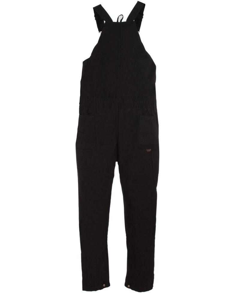 Berne Brown Duck Deluxe Insulated Bib Overalls - Short, Black, hi-res