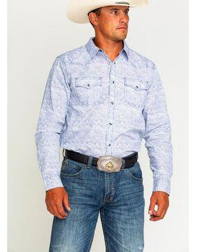 Cody James Men's Leo Long Sleeve Western Shirt- Big and Tall , White, hi-res